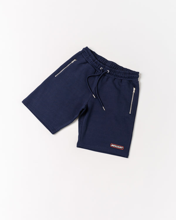 Benjart Rubber stamped racer short - Navy