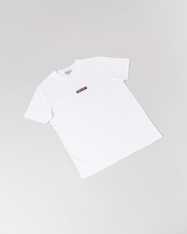 Benjart Racer rubber stamped Tshirt - ICE WHITE