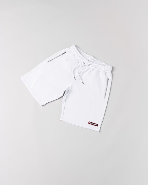 Benjart Rubber stamped racer short - ICE WHITE