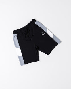Benjart HRH signature Contrast panel short - Black/grey/white