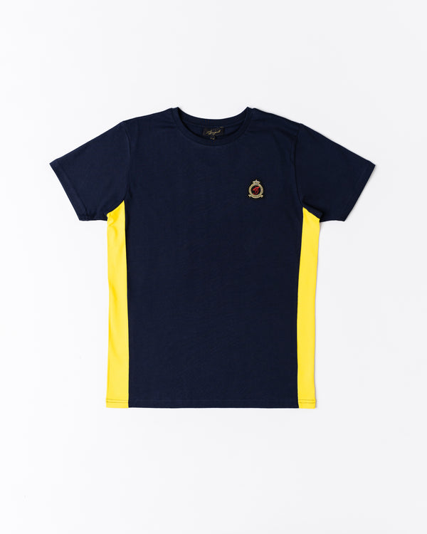 Benjart HRH signature Contrast panel T-shirt - navy