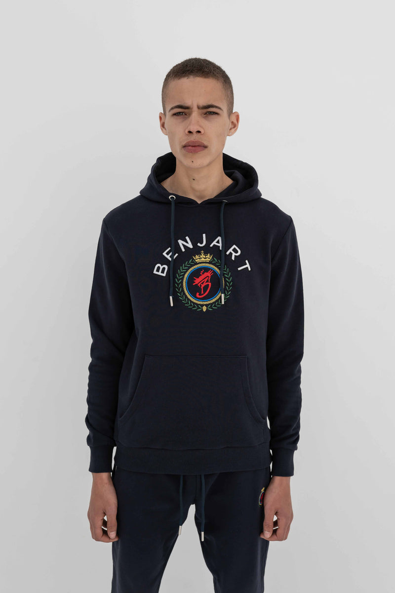 Benjart Regal Hooded Pullover - Navy