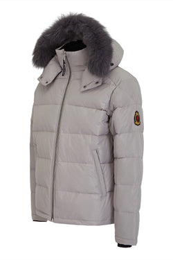 Benjart Fur Puffer Jacket - Grey