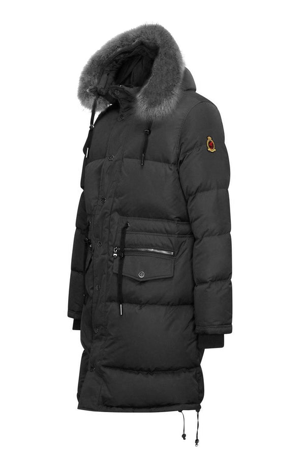 Benjart Luxury Fur Parka - Black - Unisex