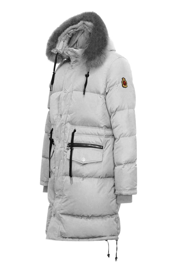 Benjart Luxury Fur Parka - Grey - Unisex