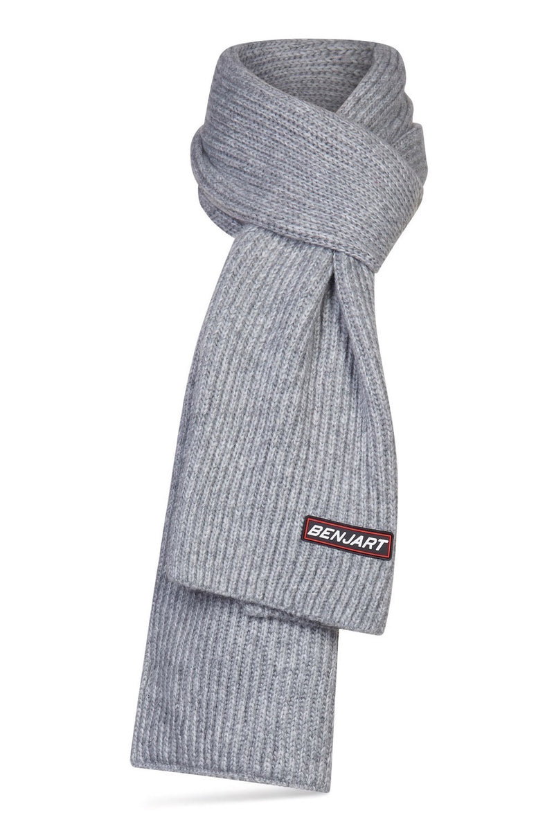 Benjart Racer Badge Scarf - Grey