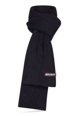 Benjart Racer Badge Scarf - Black
