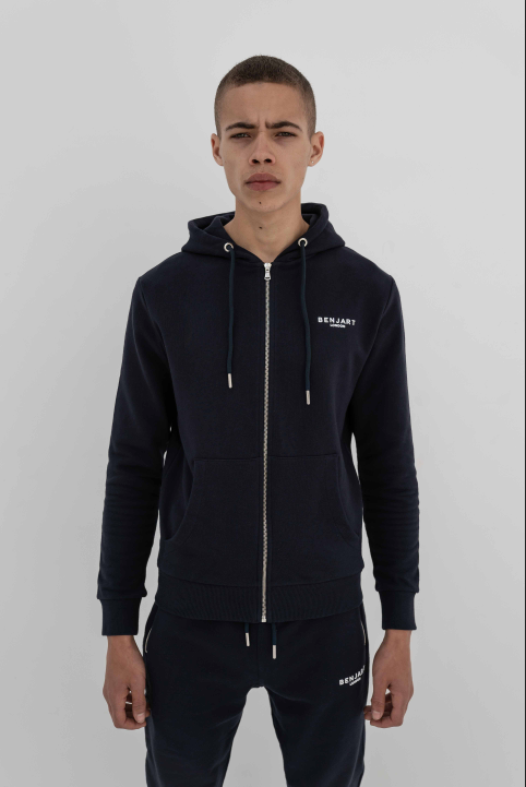 Benjart of London Contemporary zip hood Navy