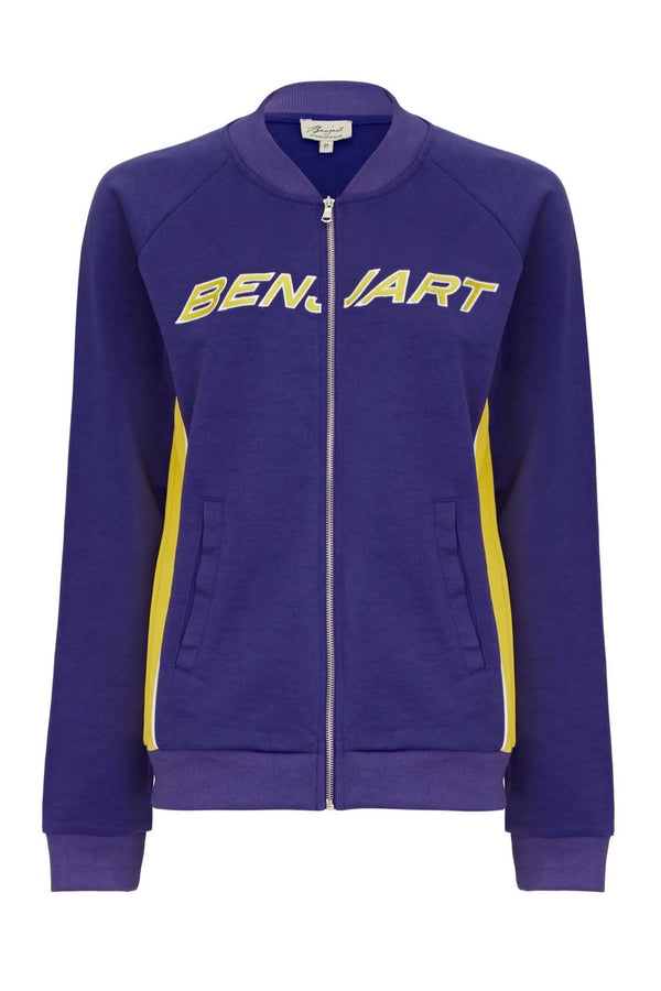 Benjart for Her Lux Racer Track Top - Blue/Yellow