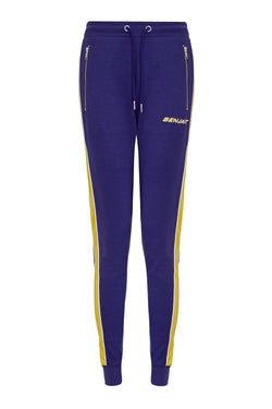 Benjart for Her Lux Racer Joggers - Blue/Yellow
