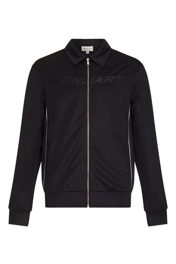 Benjart Lux Racer Zip Collar Jacket - Black