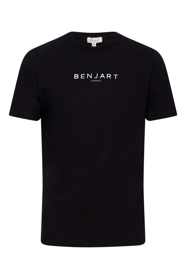 Benjart London: Black T-Shirt white print