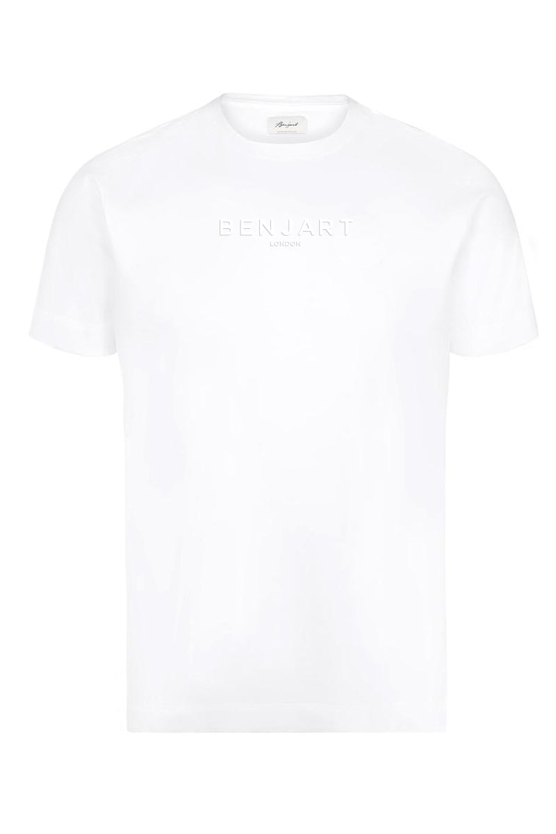 Benjart London: White T-Shirt white print
