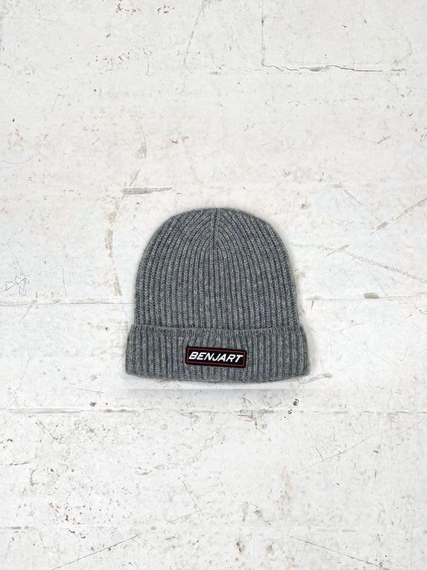 Benjart Racer Badge beanie - Grey