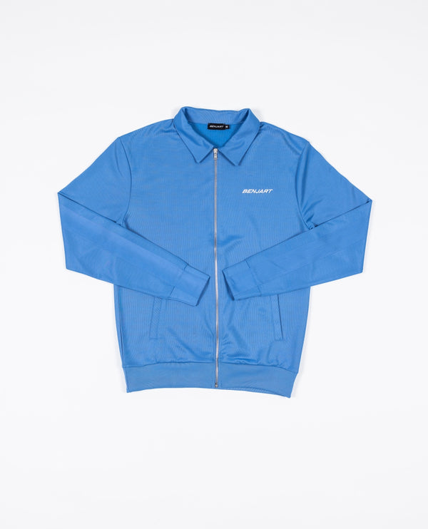 Benjart Pin tuck Racer Zip Collar Jacket - Cloud blue
