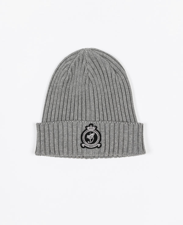Benjart HRH beanie - Grey with Chrome emblem