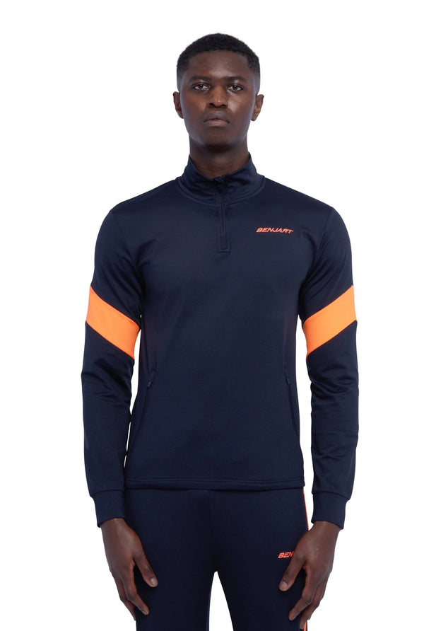 Benjart Athleisure Tracktop - Navy/ orange