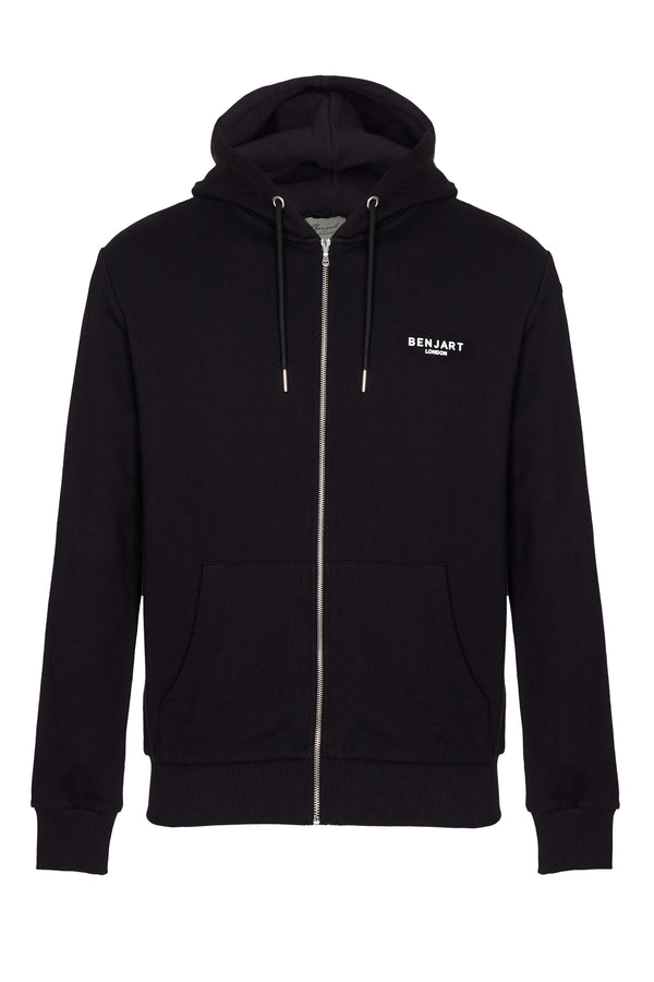 Benjart of London Contemporary zip hood Black