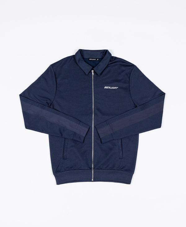 Benjart Pin Tucked Trackset top - NAVY