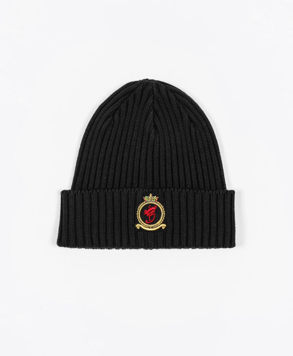 Benjart HRH beanie - Black with Gold emblem