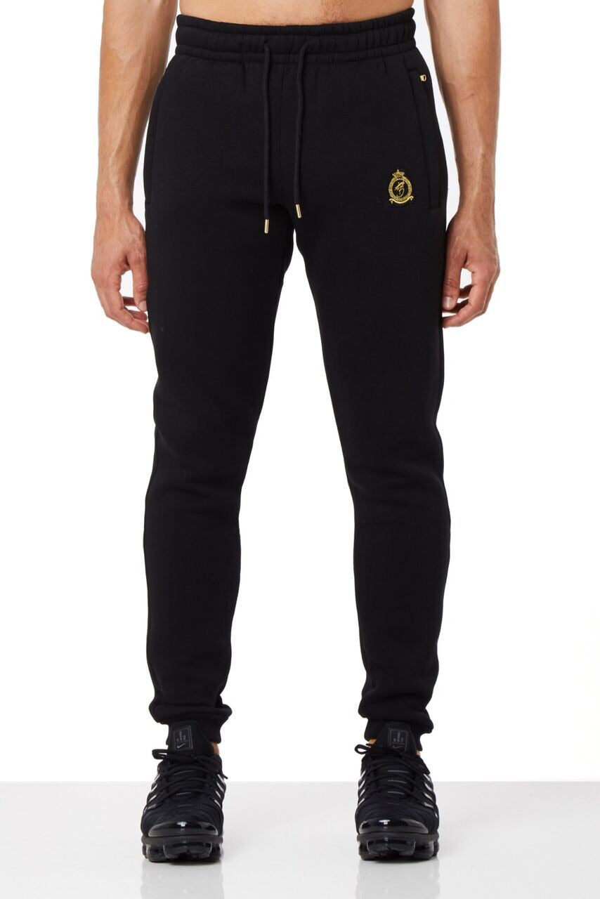 Benjart Gold Label Quarter Zip Joggers Black
