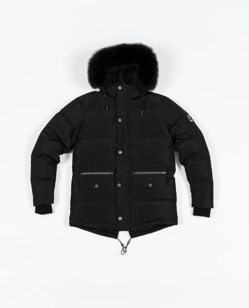 Knightsbridge 2.0 Fur Puffer Jacket - Black