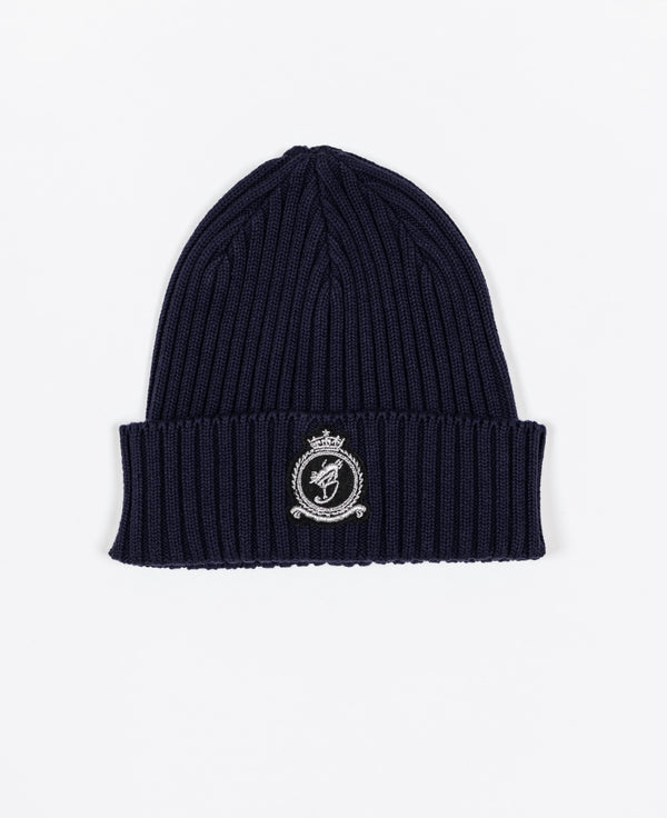 Benjart HRH beanie - Navy with Chrome emblem