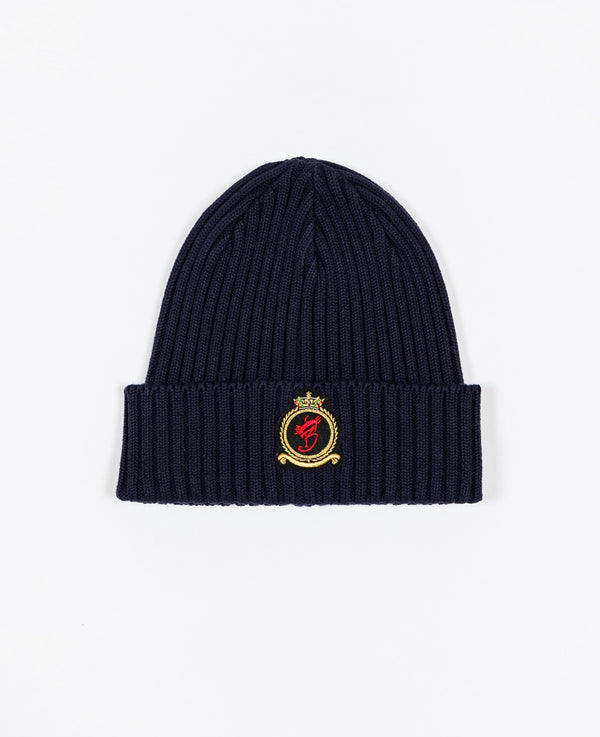 Benjart HRH beanie - Navy with Gold emblem