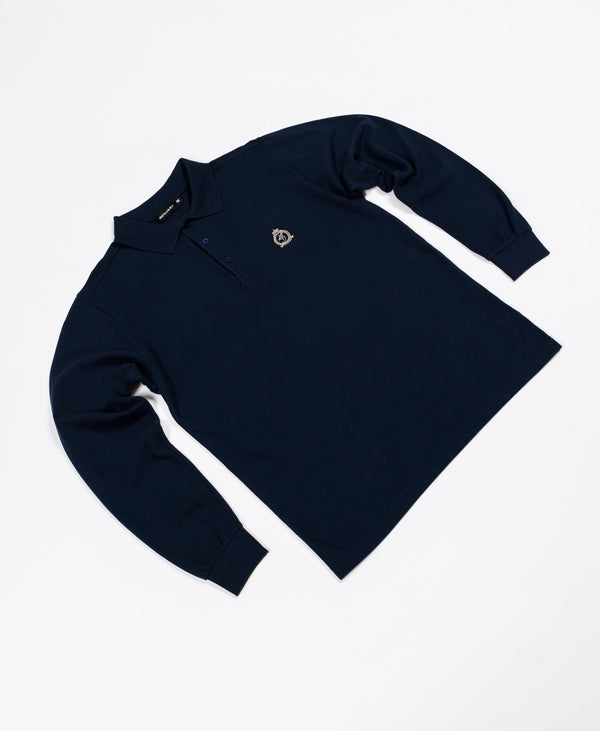 Benjart HRH - Long Sleeved Polo Shirt - Navy