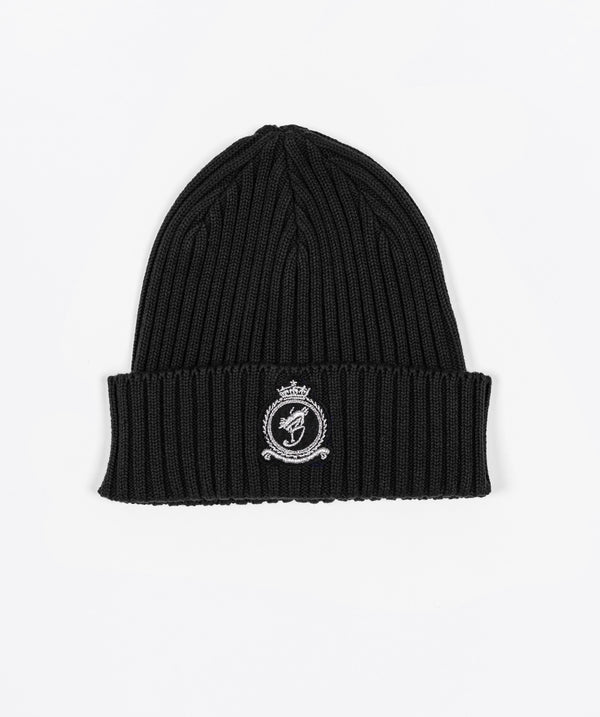 Benjart HRH beanie - Black with Chrome emblem
