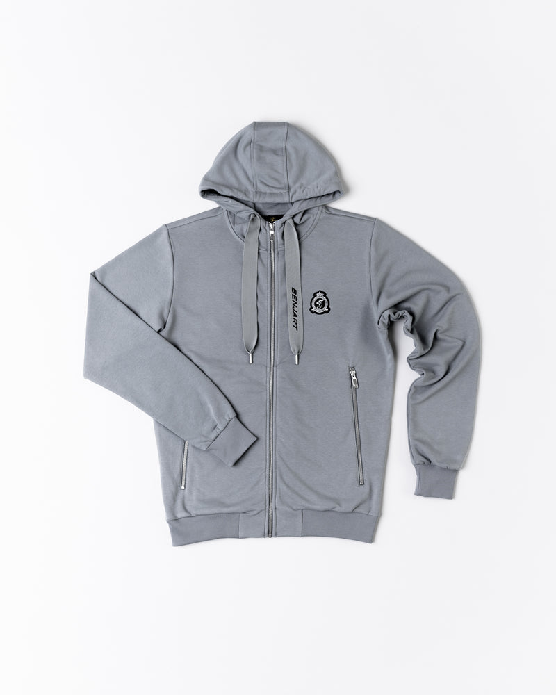 Benjart HRH chrome premium hoody - Ice grey
