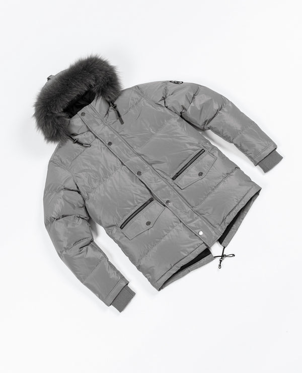 Knightsbridge 2.0 Fur Puffer Jacket - Grey