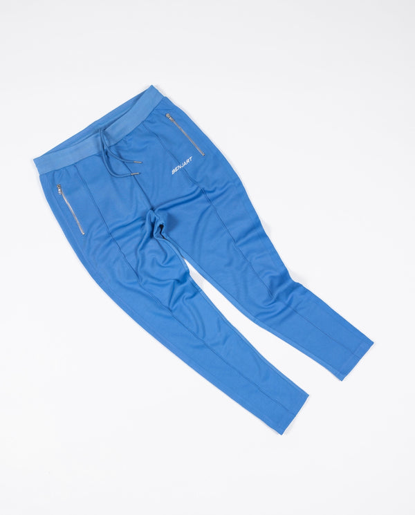 Benjart Racer pin tuck Joggers -cloud blue