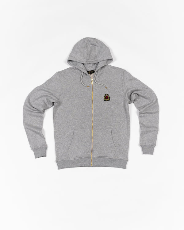 Hrh Benjart zip hood Melange grey - ITEM SHIPS FROM 11th OCTOBER