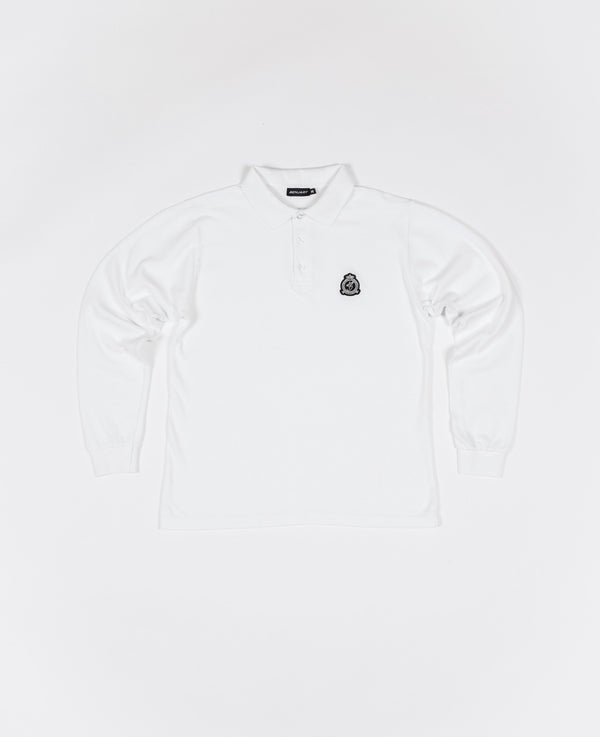 Benjart HRH - Long Sleeved Polo Shirt - White