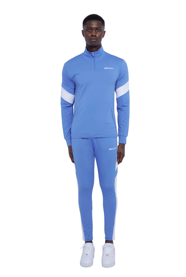 Benjart Athleisure Tracktop - Mid Blue/ white