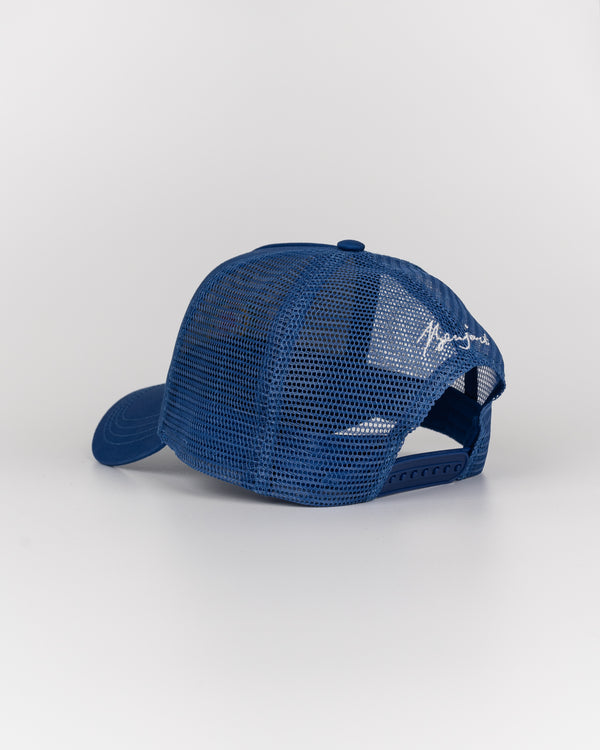 Benjart Regal Mesh Snapback Cap - Denim blue