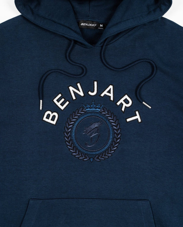 Benjart Tonal Regal Hooded Pullover - Pageant blue