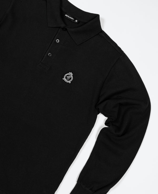 Benjart HRH - Long Sleeved Polo Shirt - BLACK