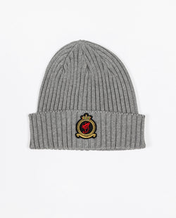 Benjart HRH beanie - Grey with Gold emblem