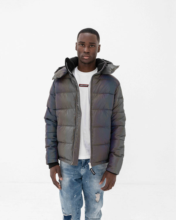 Benjart Iridescent Puffer Jacket - Grey