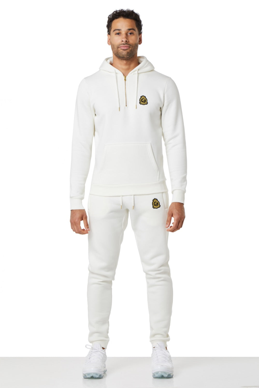 Benjart Gold Label Quarter Zip Hood Off white