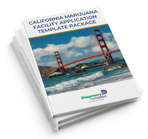 California Marijuana Facility State License Application Template Package