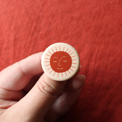 Sun Day Button - Beetle Ink Co.