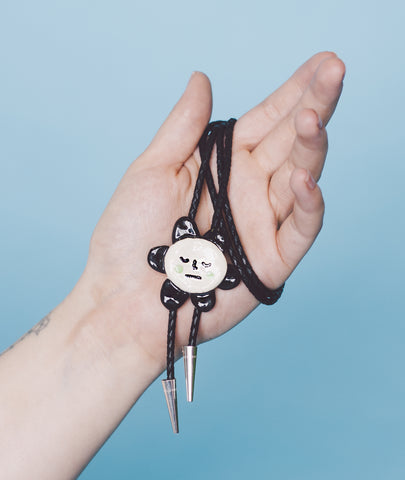 Ceramic Bolo Tie - Daisy - Beetle Ink Co.