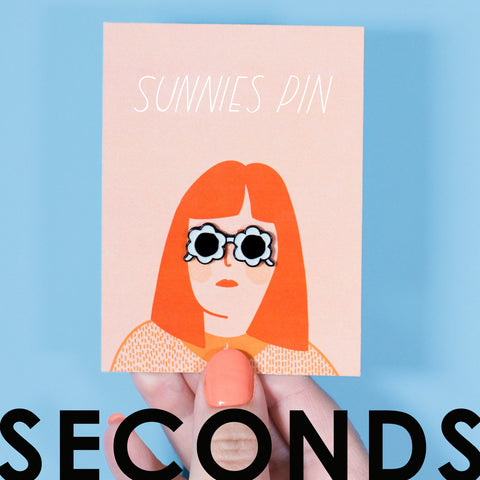 Blue Sunnies Enamel Pin - SECONDS