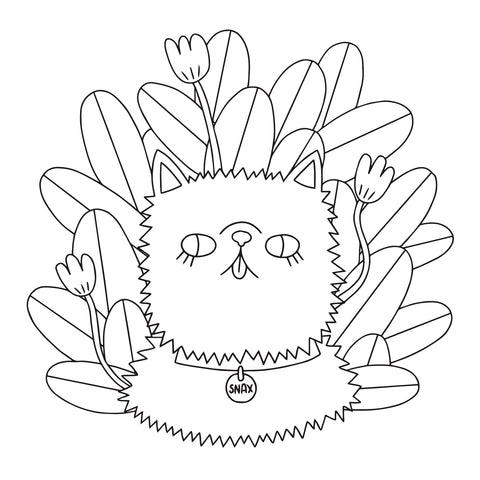 Coloring Page Download - Cat - Beetle Ink Co.
