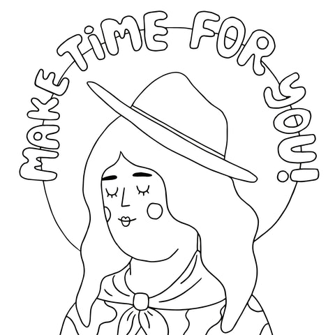 Coloring Page Download - Cowgirl - Beetle Ink Co.