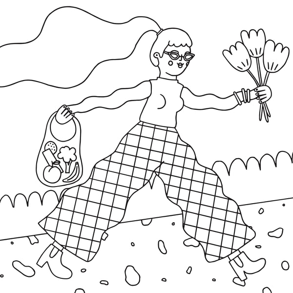 Coloring Page Download - Spring Walk - Beetle Ink Co.