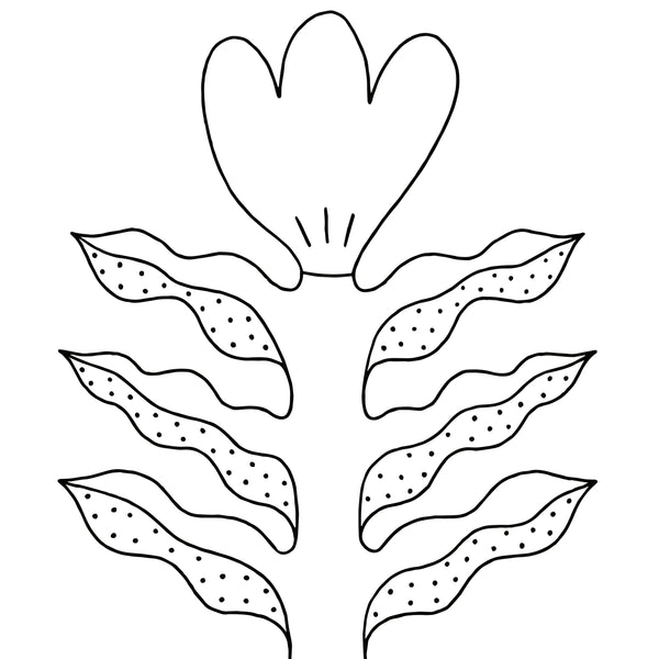 Coloring Page Download - Tulip - Beetle Ink Co.